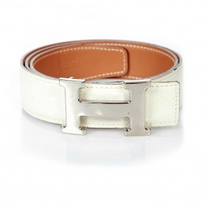 Hermes White Belt