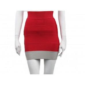 Herve Leger Red Skirt