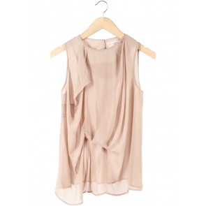 (X)SML Cream Drapped Sleeveless