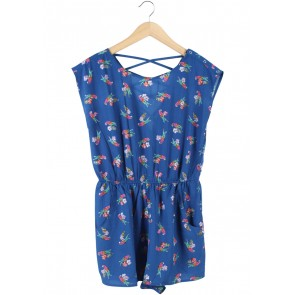 New Look Blue Bird Patterned Jumpsuit