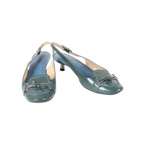 Tod´s Green And Blue Kitten Heels Heels