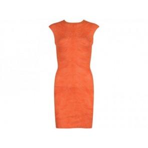 Alexander McQueen Orange Midi Dress