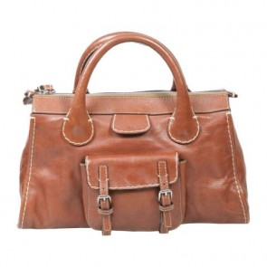 Chloe Brown Tote Bag
