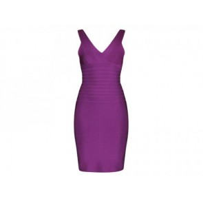 Herve Leger Purple Midi Dress