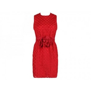 Lanvin Red Midi Dress