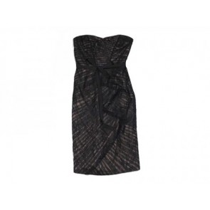 Monique Lhuillier Black Midi Dress