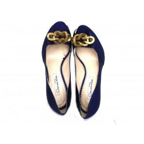 Oscar de la Renta Blue Heels