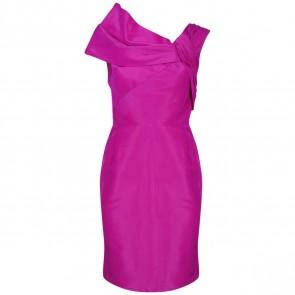 Oscar de la Renta Purple Midi Dress
