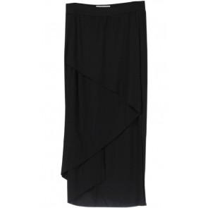 Black Asymmetric Midi Skirt