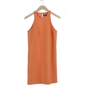 Orange Sleeveless Mini Dress