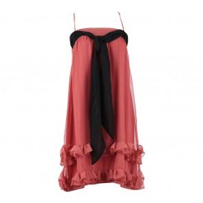 H&M Peach And Black Sleeveless Mini Dress