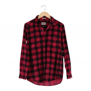 Wrangler Black And Red Plaid Shirt