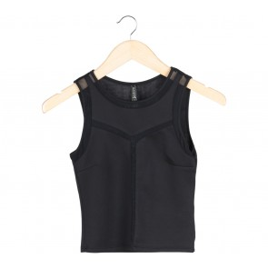 Stradivarius Black Sheer Insert Sleeveless