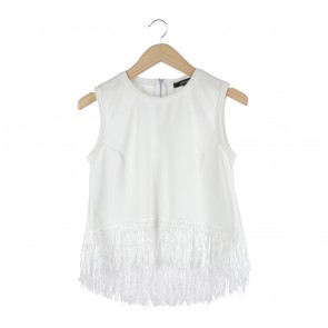 Blanik Off White Fringe Sleeveless