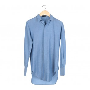 Austere Blue With Pocket Back Shirt