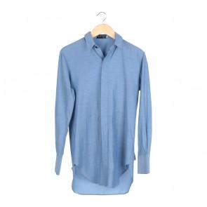 Austere Blue With Pocket Back Shirt