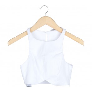 Zara White Cropped Sleeveless