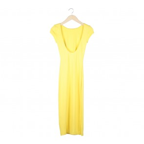 Zara Yellow Low Back Long Dress