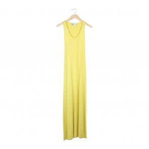 Olenka Yellow Sleeveless Long Dress