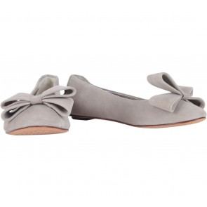 Oroton Grey Bow Flats
