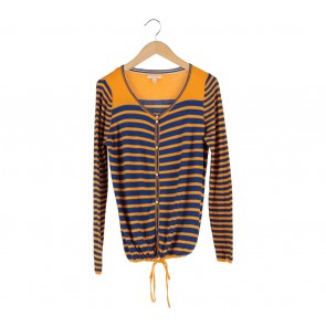 Esprit Blue And Yellow Striped Cardigan