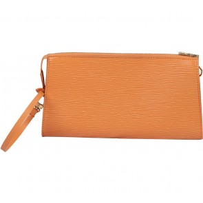 Louis Vuitton Orange Pochette Accessoire Clutch