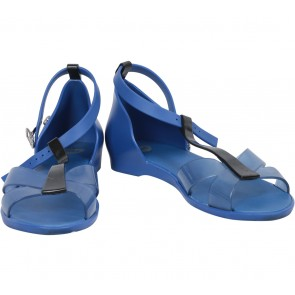 Melissa Black And Blue T-Bar Sandals