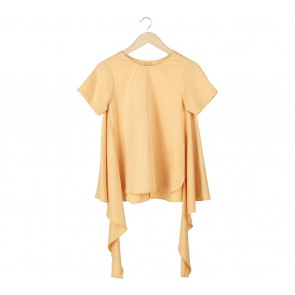Lilac Yellow Asymmetric Blouse