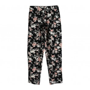 Cotton Ink Black Floral Pants