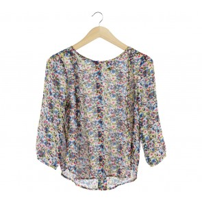 Forever 21 Multi Colour Floral Blouse