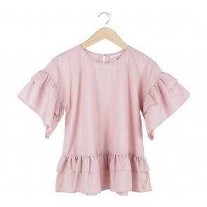 Krom Collective Pink Ruffle Blouse