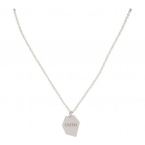 Krom Collective  White Gold Faith Necklace Jewellery