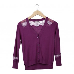 Juicy Couture Purple Cardigan