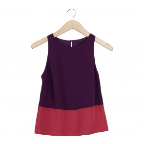 Kate Moss Topshop Purple And Pink Sleeveless
