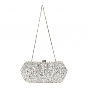 SANTI Gold And Silver Diamond Clutch