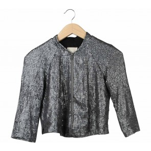 Silence + Noise Grey Sequins Jaket