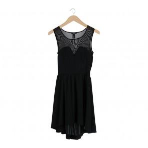 H&M Black Combi Sleeveless Mini Dress