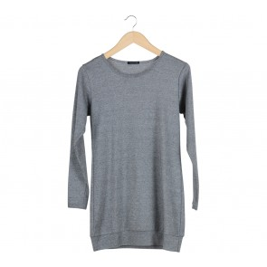 Nikicio Grey Glittery Sweater Mini Dress