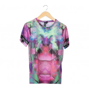 Topshop Multi Colour Abstract T-Shirt