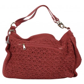 DOWA Orange Knit Shoulder Bag