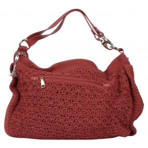 DOWA Orange Knit Shoulder Bag