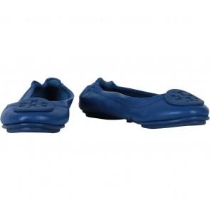 Tory Burch Blue Royal Tan Flats