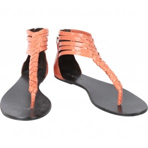 Elizabeth and James Orange Sandals