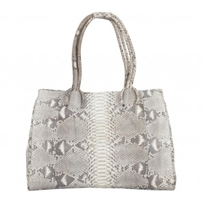 Kamali Brown And Cream Snakeskin Shoulder Bag