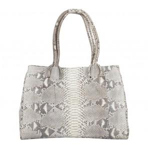 Kamali Brown And Cream Snakeskin Shoulder Bag