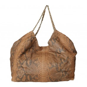 Kamali Brown Snakeskin Shoulder Bag
