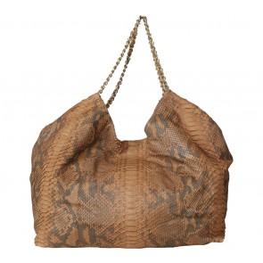 Kamali Brown Snakeskin Shoulder Bag