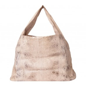 Kamali Cream Snakeskin Shoulder Bag