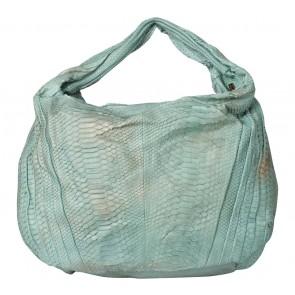 Kamali Green And Brown Snakeskin Shoulder Bag