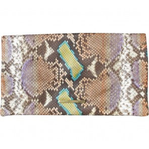 Kamali Multi Colour Snakeskin Clutch